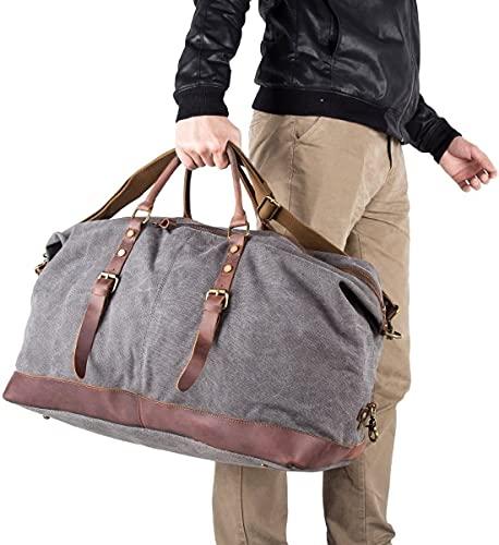 BAOSHA Vintage Canvas Unisex Weekender Tasche - 3